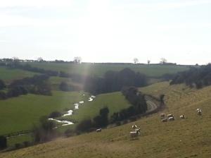 Hidden valleys sparkle in the winter sun